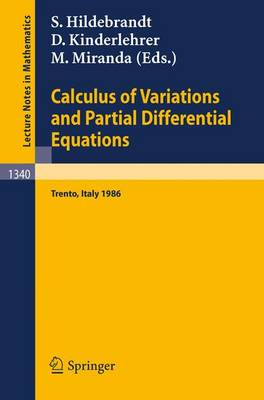 Calculus of Variations and Partial Differential Equations: Proceedings of a Conference, held in Trento, Italy, June 16-21, 1986