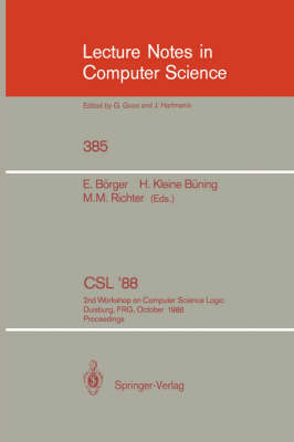 CSL'88: 2nd Workshop on Computer Science Logic, Duisburg, FRG, October 3-7, 1988. Proceedings