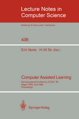 Computer Assisted Learning: 3rd International Conference, ICCAL '90, Hagen, FRG, June 11-13, 1990, Proceedings