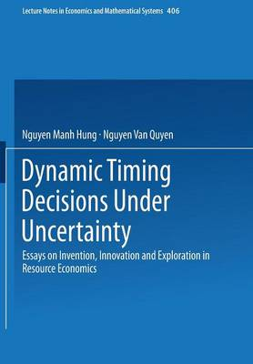 Dynamic Timing Decisions Under Uncertainty: Essays on Invention, Innovation and Exploration in Resource Economics