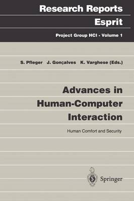 Advances in Human-Computer Interaction: Human Comfort and Security