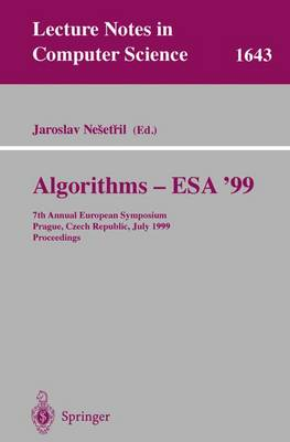 Algorithms - ESA'99: 7th Annual European Symposium, Prague, Czech Republic, July 16-18, 1999 Proceedings
