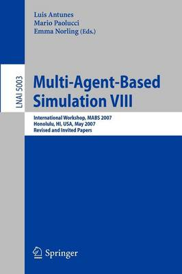 Multi-Agent-Based Simulation: Revised and Invited Papers: No. VIII
