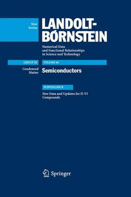 New Data and Updates for II-VI Compounds: Subvolume B