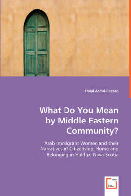 What Do You Mean by Middle Eastern Community?