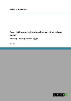 Description and Critical Evaluation of an Urban Policy
