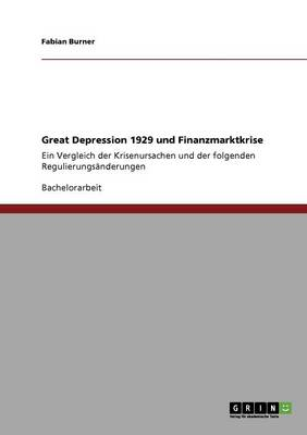 Great Depression 1929 Und Finanzmarktkrise