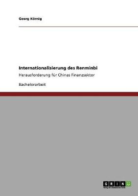 Internationalisierung Des Renminbi