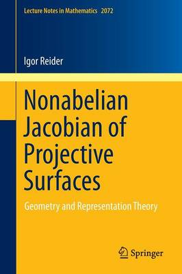 Nonabelian Jacobian of Projective Surfaces: Geometry and Representation Theory