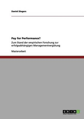 Pay for Performance?