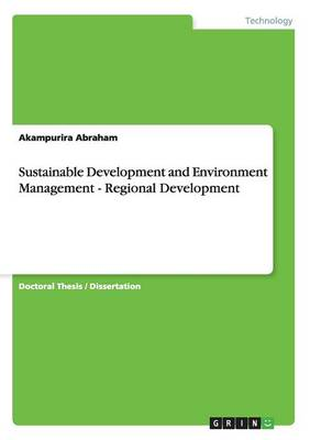 Sustainable Development and Environment Management - Regional Development