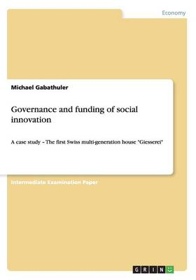 Governance and Funding of Social Innovation