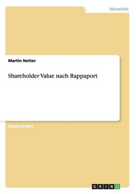 Shareholder Value Nach Rappaport