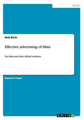 Effective Advertising of Films