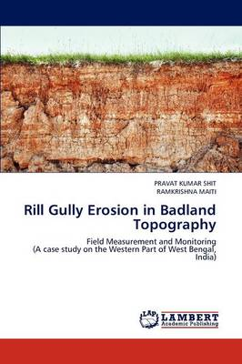 Rill Gully Erosion in Badland Topography
