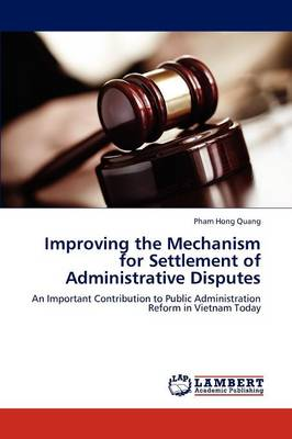 Improving the Mechanism for Settlement of Administrative Disputes