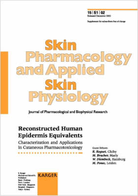 Reconstructed Human Epidermis Equivalents: Characterization and Applications in Cutaneous Pharmacotoxicology. Supplement Issue: Skin Pharmacology and Applied Skin Physiology 2002, Vol. 15, Suppl. 1