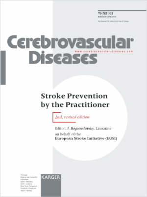 Stroke Prevention by the Practitioner: Supplement Issue: Cerebrovascular Diseases 2003, Vol. 15, Suppl. 2