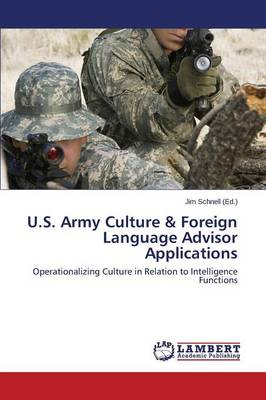 U.S. Army Culture & Foreign Language Advisor Applications