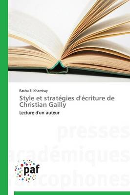 Style Et Strategies D'Ecriture de Christian Gailly