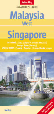 Malaysia: West, and Singapore Nelles Map