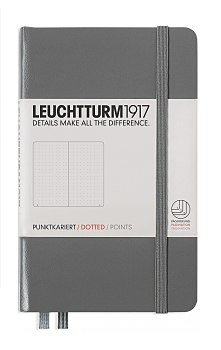 Anthracite Pocket Dotted Hardcover Notebook
