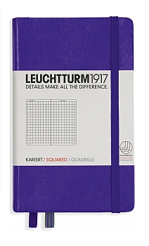 Purple Pocket Grid Hardcover Notebook