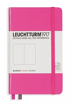 New Pink Pocket Plain Hardcover Notebook