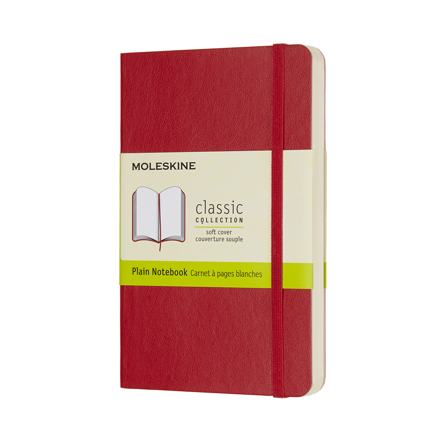 Scarlet Red Pocket Plain Soft Notebook