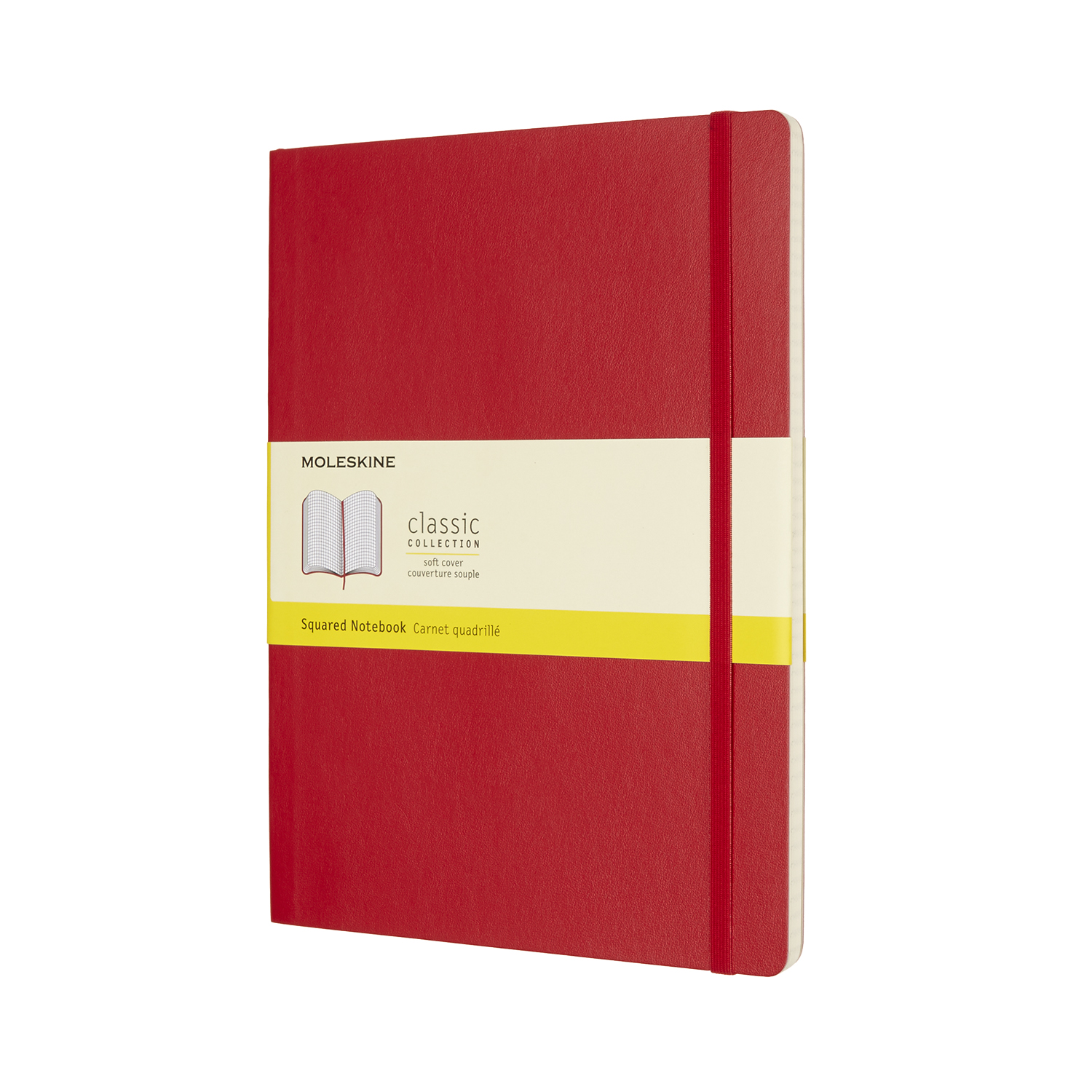 Scarlet Red Extra Large Squared Soft Notebook