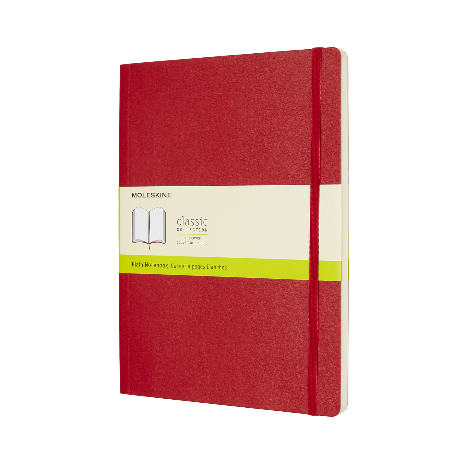 Scarlet Red Extra Large Soft Plain Notebook