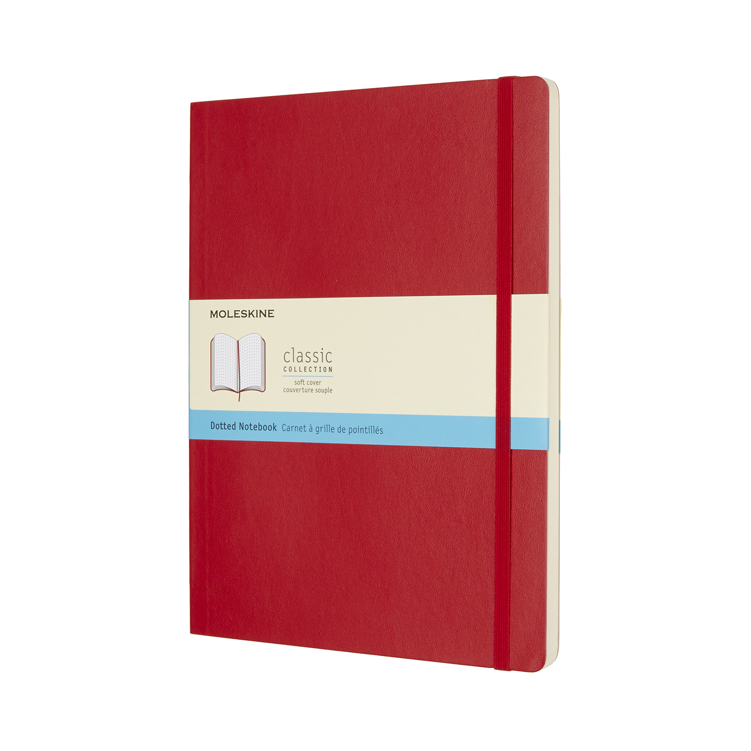 Scarlet Red Extra Large Dotted Soft Notebook