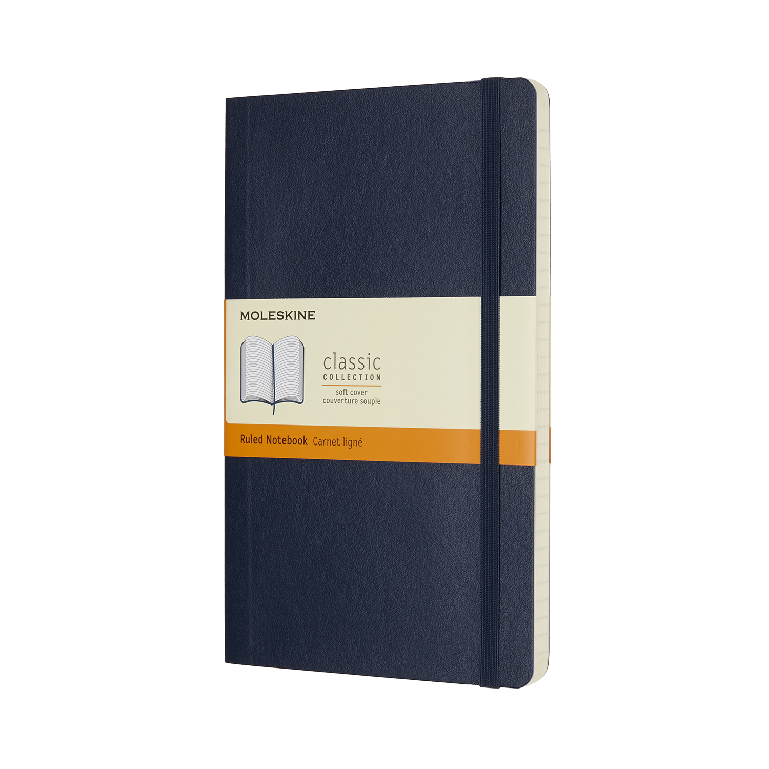 Sapphire Blue Large Soft Ruled Notebook