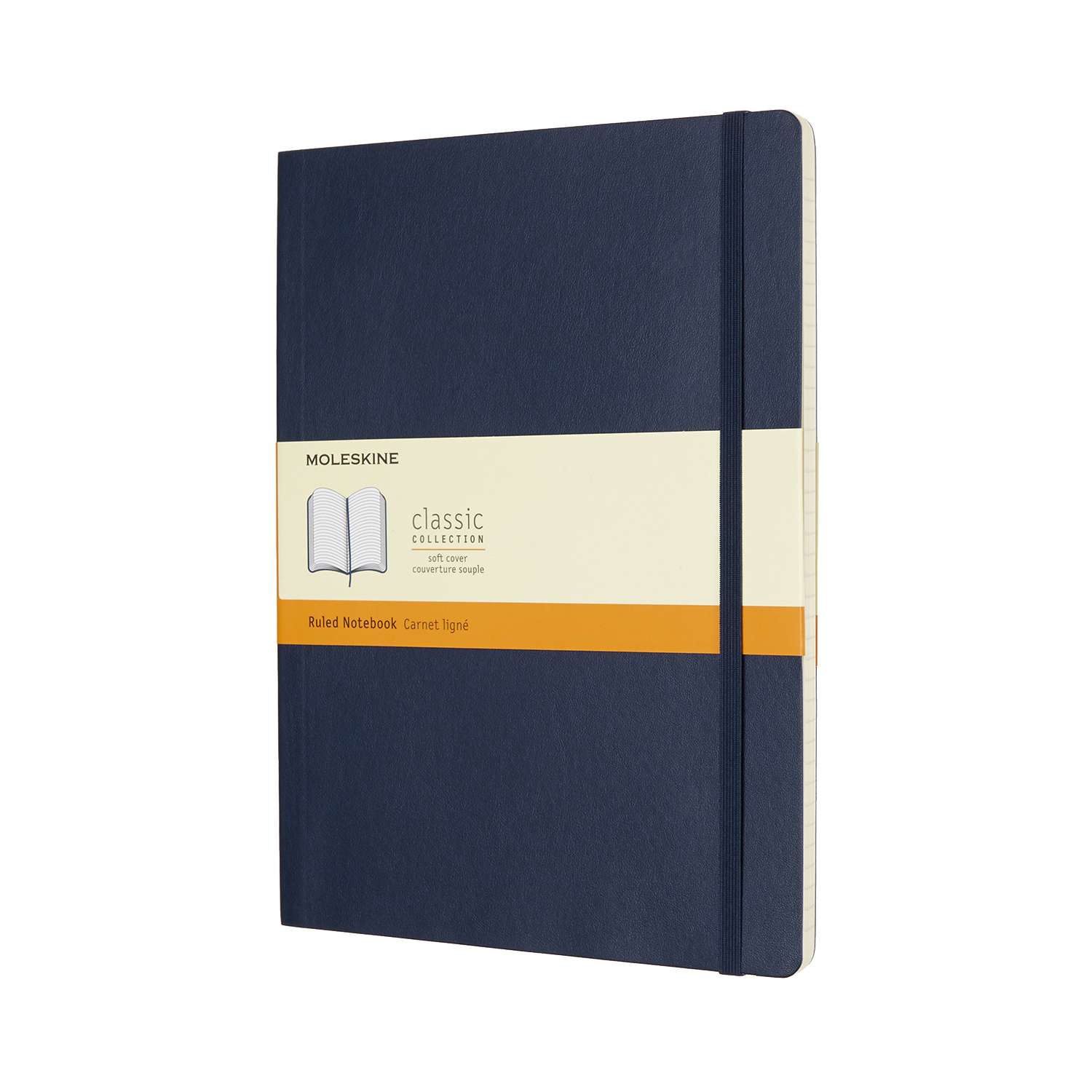Sapphire Blue Extra Large Ruled Soft Notebook