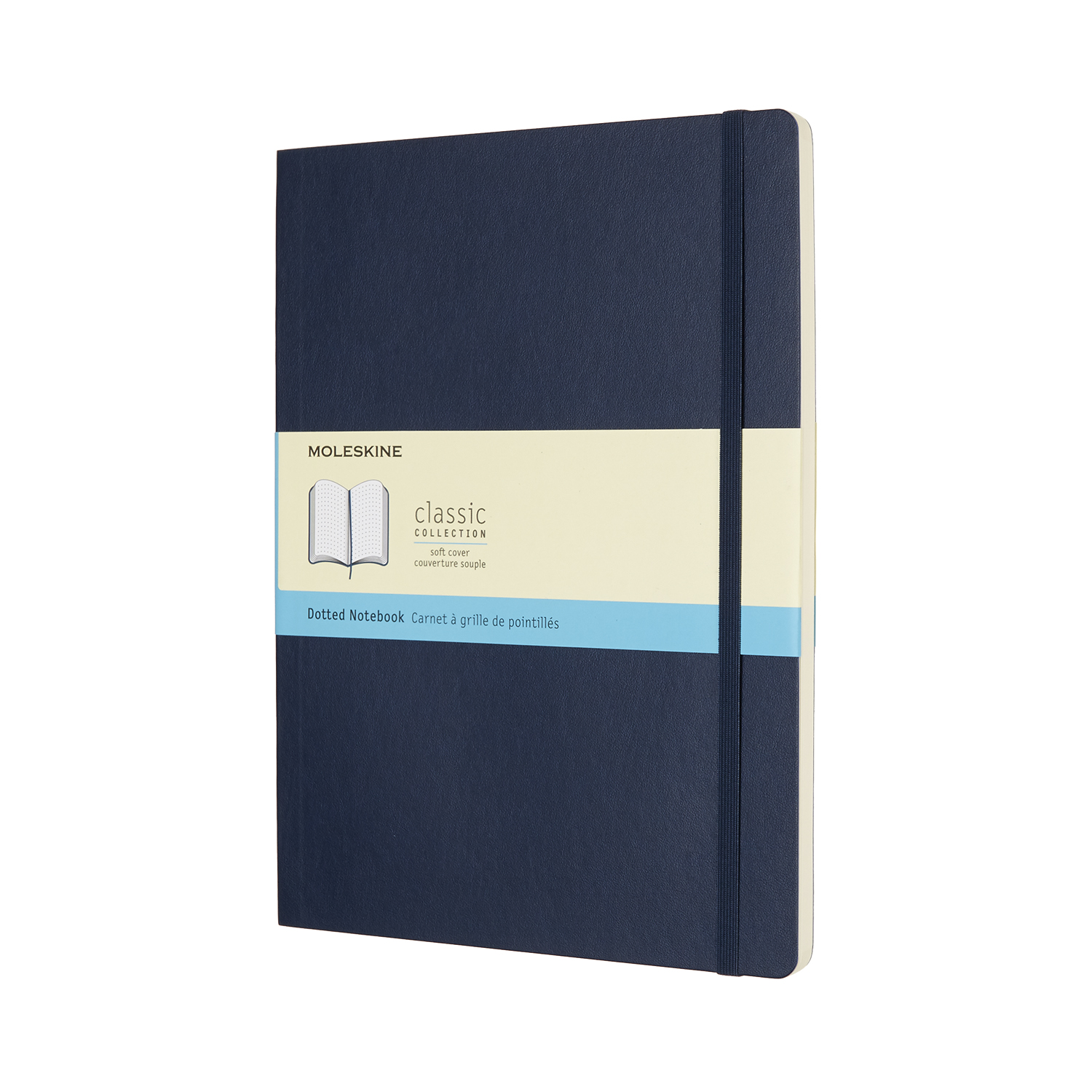 Sapphire Blue Extra Large Dotted Soft Notebook