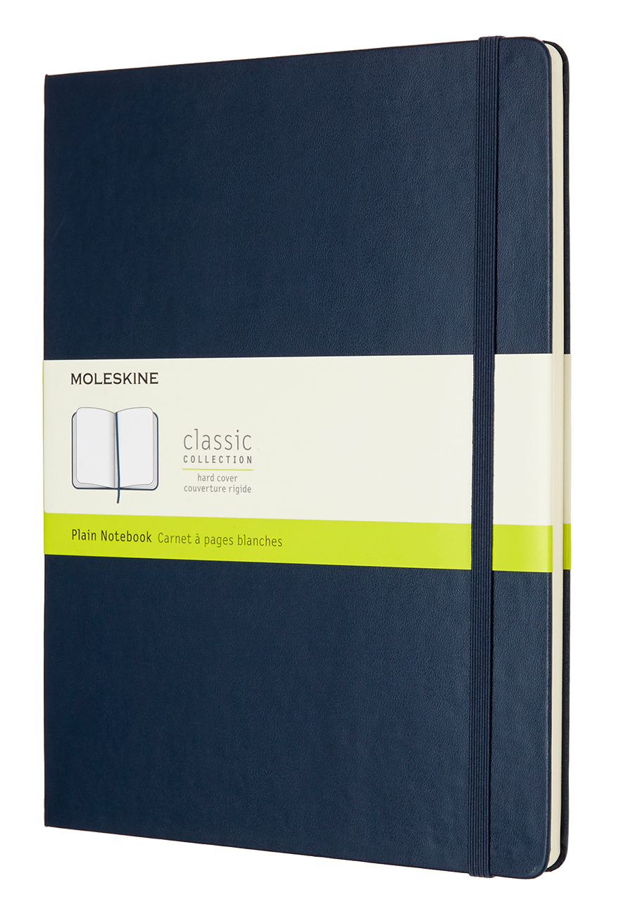 Sapphire Blue Extra Large Plain Hard Notebook