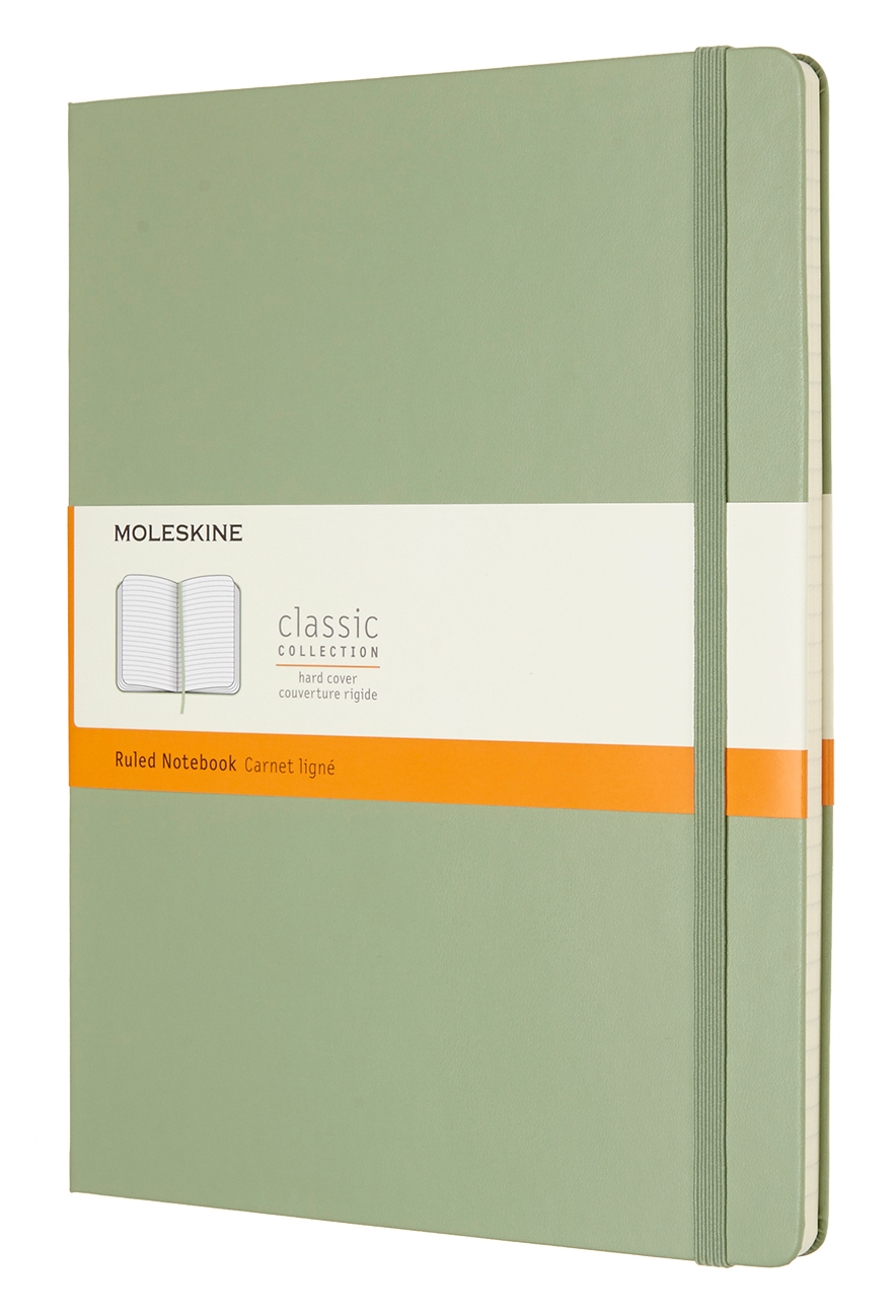 Willow Green Extra Large Ruled Hard Notebook