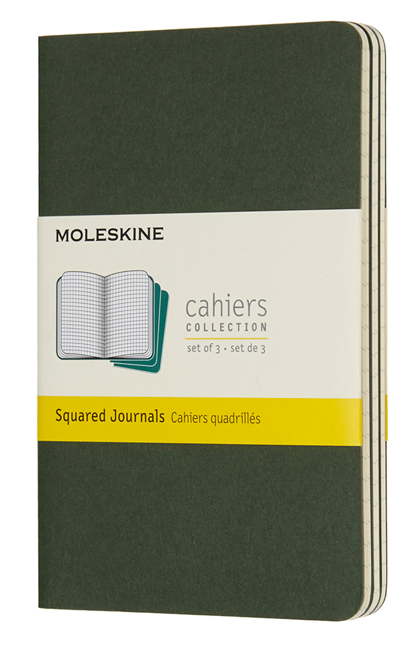 Cahier Pocket Squared Myrtle Green Notebook