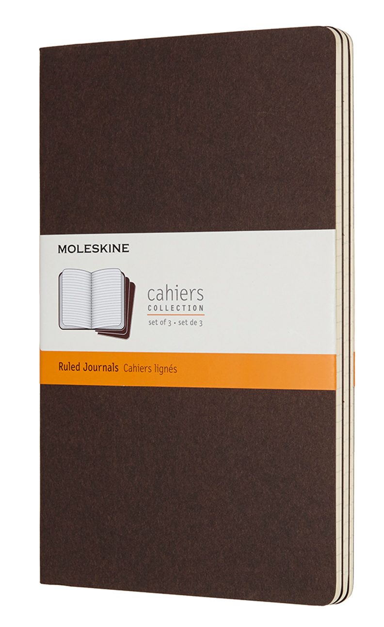 Cahier Large Ruled Coffee Brown Notebook