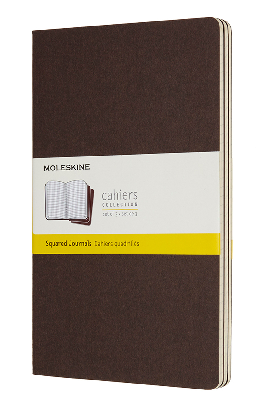 Cahier Large Squared Coffee Brown Notebook