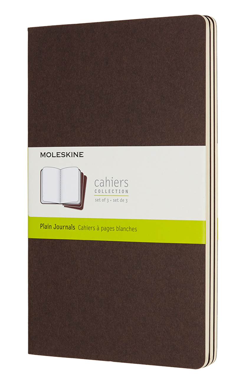 Cahier Large Plain Coffee Brown Notebook