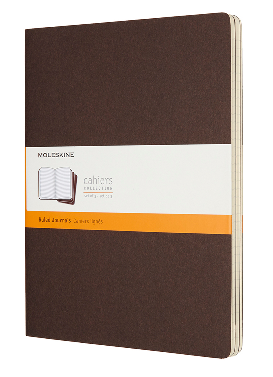 Cahier Extra Large Ruled Coffee Brown Notebook