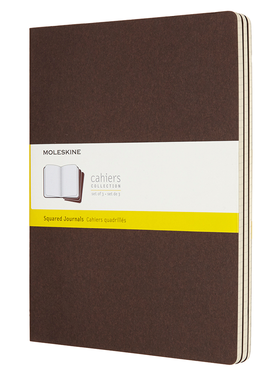 Cahier Extra Large Squared Coffee Brown Notebook