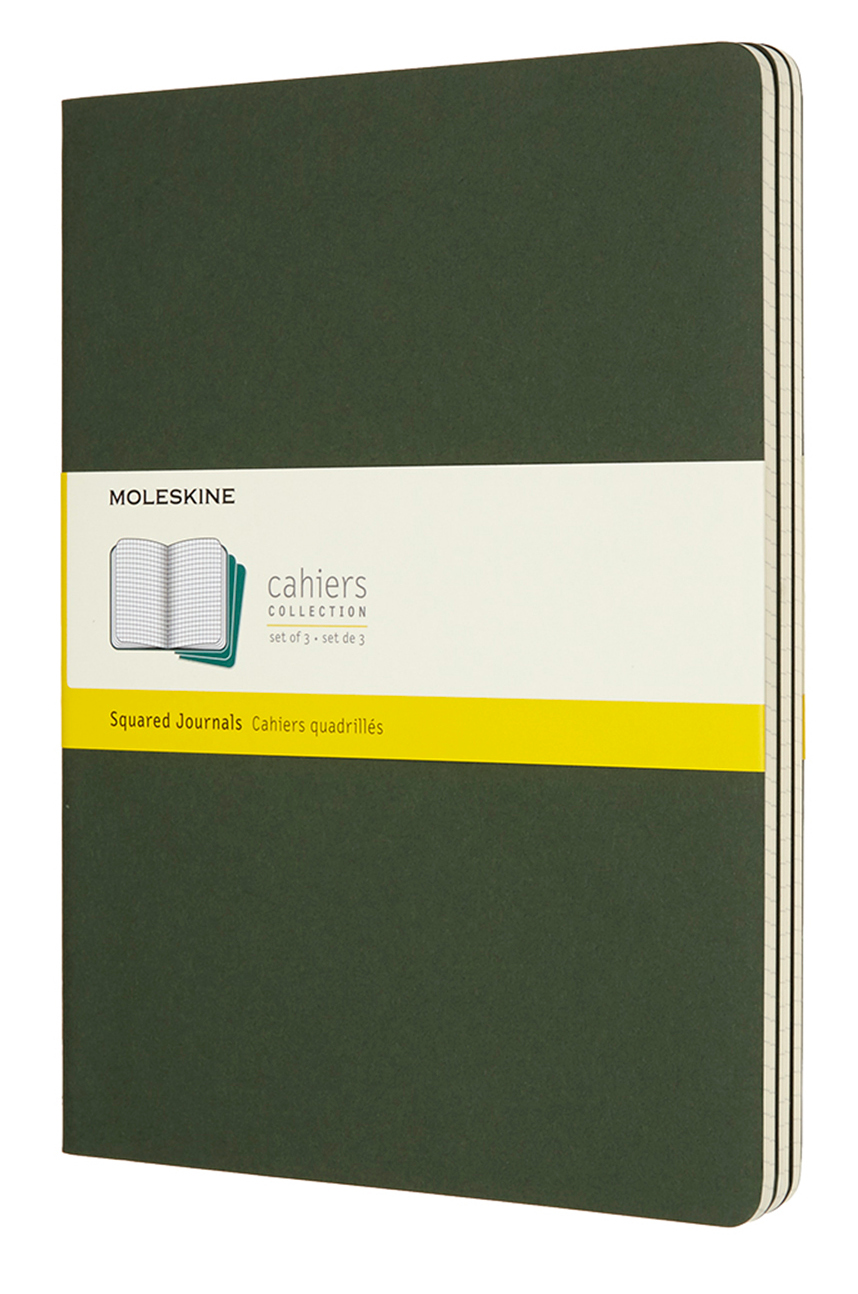 Cahier Extra Large Squared Myrtle Green Notebook