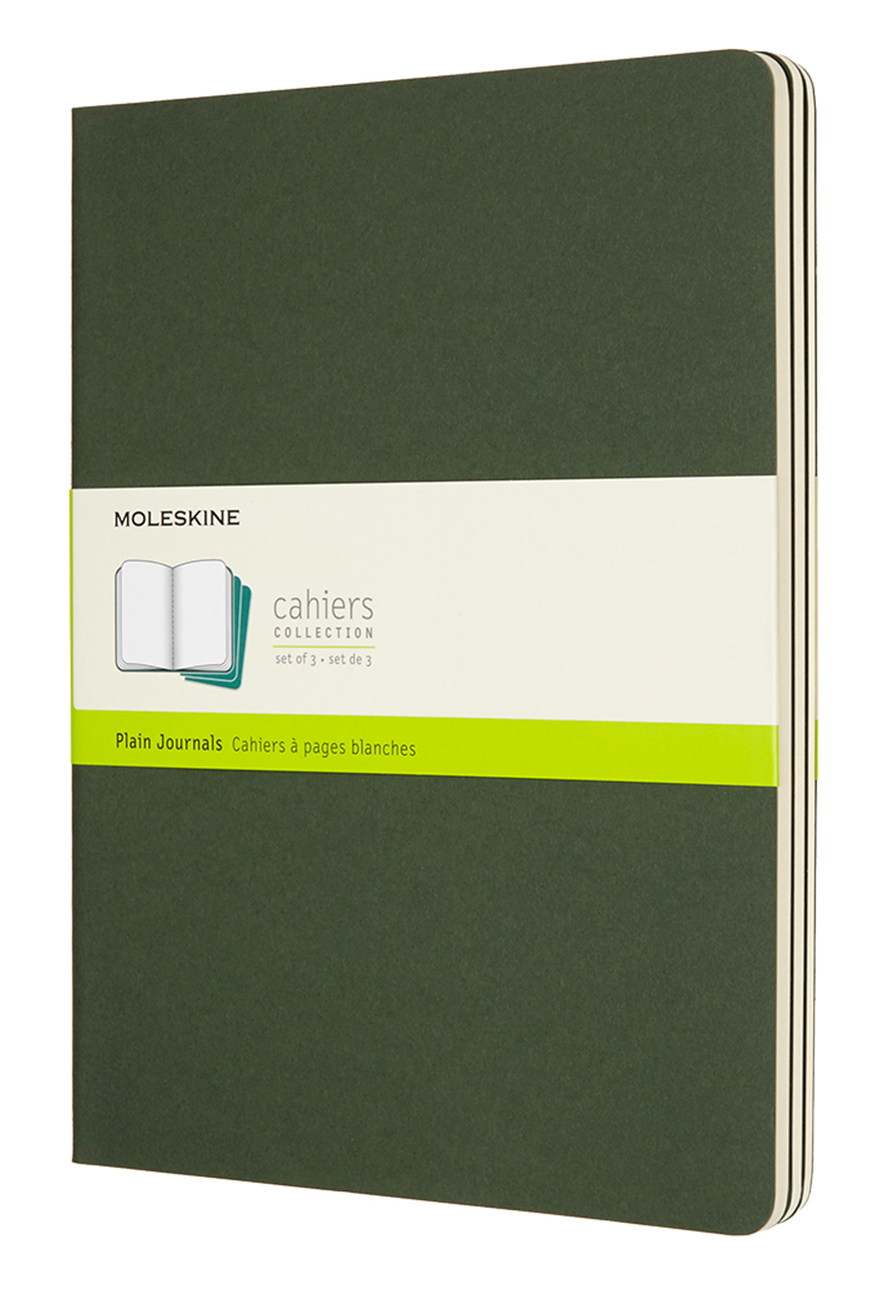 Cahier Extra Large Plain Myrtle Green Notebook