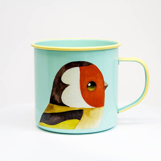 Goldfinch Enamel Mug by Matt Sewell