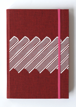 Slanted Books Red Linen Hard Cover Notebook