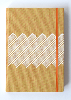Slanted Books Orange Linen Hard Cover Notebook