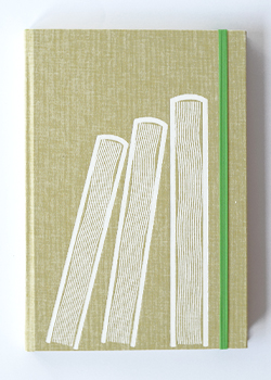 Three Books Sand Linen Hard Cover Notebook