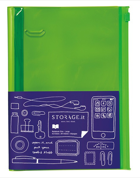 STORAGE.it Large Green Notebook